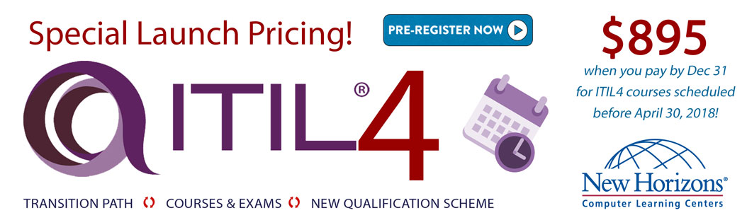 ITIL4 PreLaunch New Horizons